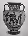 Neck Amphora (Storage Jar): Herakles And The Nemean Lion; Theseus And The Minotaur