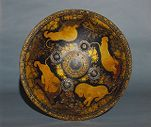 Shield with scenes of hunting lions