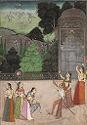 Sujan Singh Of Bikaner And Ladies Shooting Heron From A Terrace