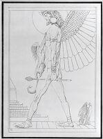 The Assyrian God, Illustration For