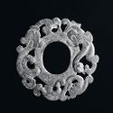 Perforated Jade Plaque With Dragons In Openwork