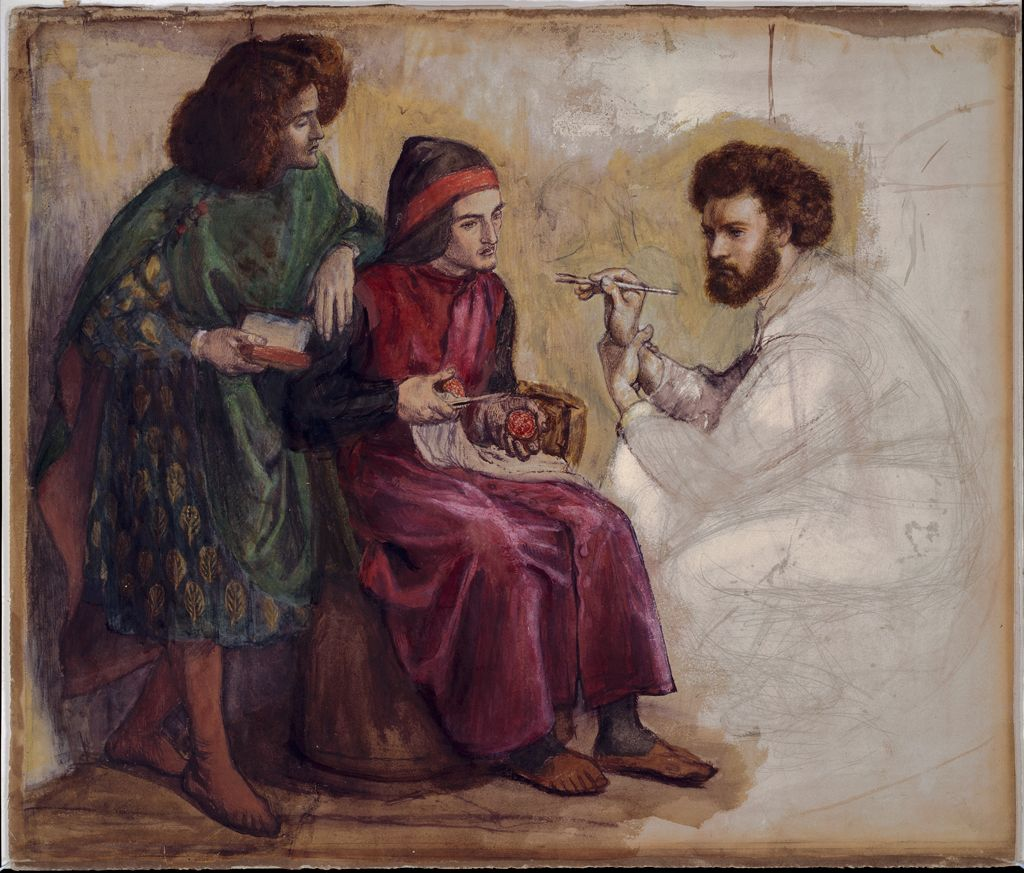 Giotto Painting Dante's Portrait