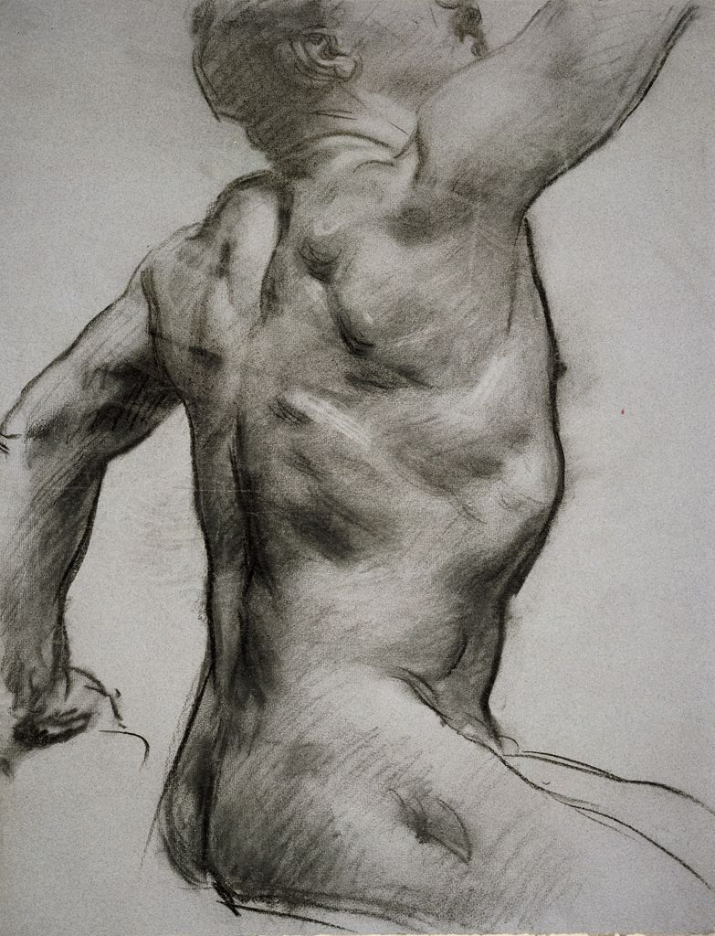 Torso Of A Male Nude With Arm Raised