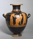 Hydria (Water Jar): Family Scene