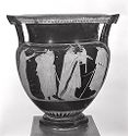 Column Krater (Mixing Bowl For Wine And Water): Theseus And Poseidon; Musician And Audience