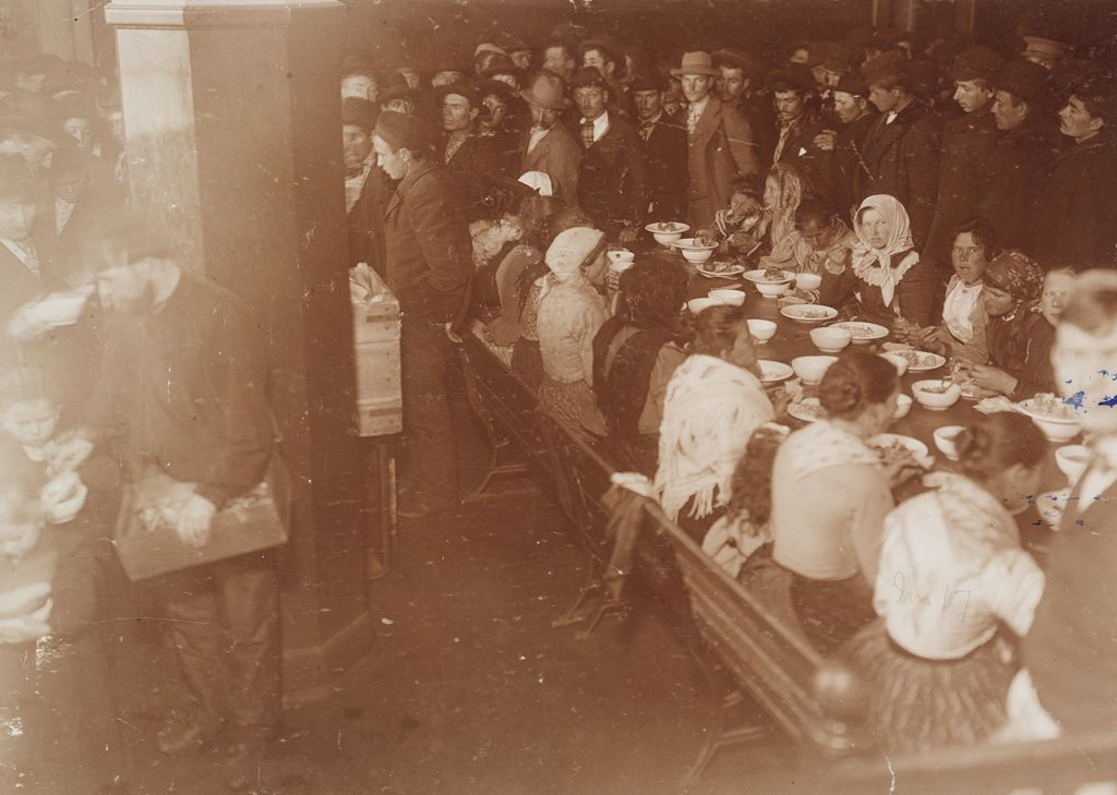 Races, Immigration: United States. New York. New York City. Immigrant Station: Regulation Of Immigration At The Port Of Entry. United States Immigrant Station, New York City. New York Detained Group: Women At Dinner
