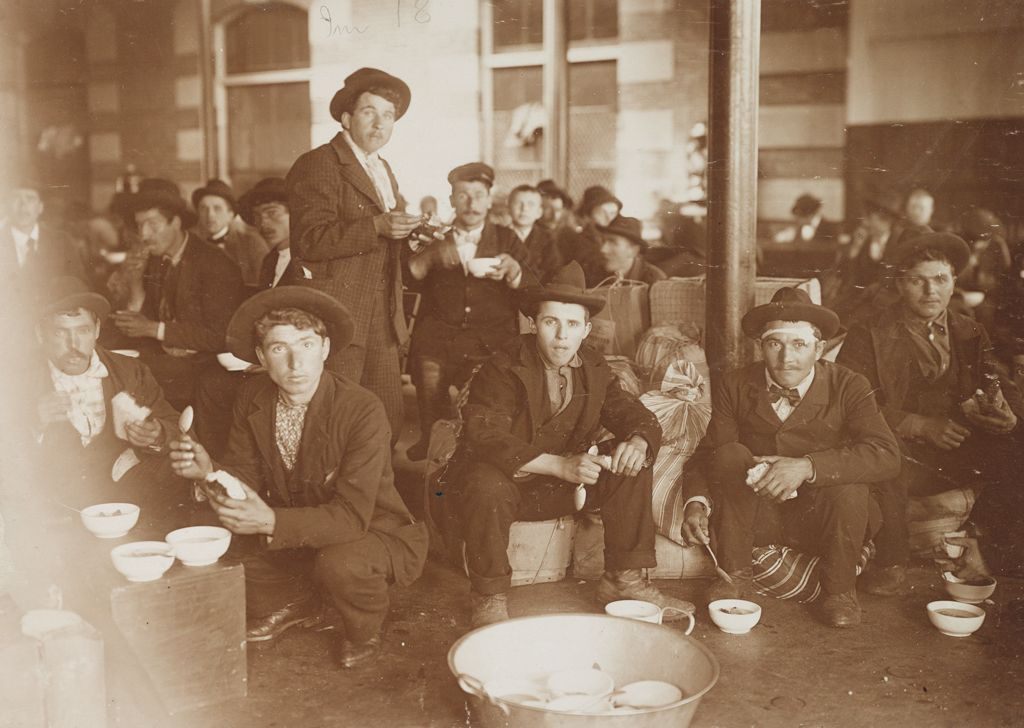 Races, Immigration: United States. New York. New York City. Immigrant Station: Regulation Of Immigration At The Port Of Entry. United States Immigrant Station, New York City. New York Detained Group: Men At Dinner