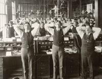 Industrial Problems, Welfare Work: United States. Ohio. Dayton. National Cash Register Company: Welfare Institutions Of The National Cash Register Company, Dayton, Ohio. Advantages For Employes: Calisthenics