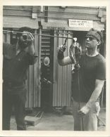 Photograph of Christopher Wilmarth and Larry Huff at the California College of Arts and Crafts working on a