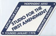 Studio for the First Amendment, miscellaneous, 1978-1983 and 1986