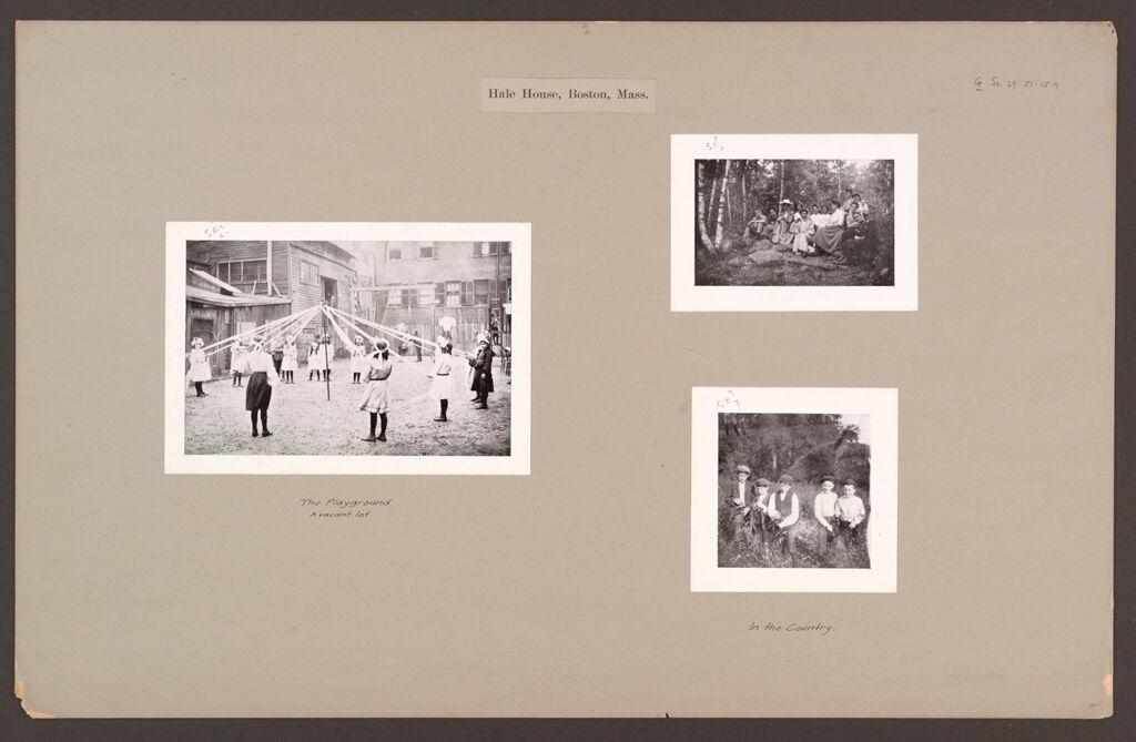 Social Settlements: United States. Massachusetts. Boston. Hale House: Hale House, Boston, Mass.
