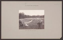 Recreation, Parks and Playgrounds: United States. New York. New York City. Central Park: New York City Parks and Playgrounds: Central Park: Public Tennis Courts..   Social Museum Collection