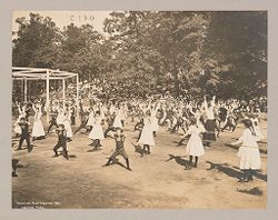 Recreation, Parks and Playgrounds: United States. New York. New York City. Crotona Park, Vacation Playground: New York City Public Schools. Examples of the Adaptation of Education to Special City Needs: Vacation Playgrounds - Crotona Park..   Social Museum Collection
