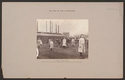 Recreation, Parks and Playgrounds: United States. New York. New York City. De Witt Clinton Park: New York City Parks and Playgrounds: De Witt CLinton Park: School Farm, each child assigned to her plot previous to planting..   Social Museum Collection