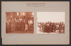 Races, Immigration: United States. New York. New York City. Immigrant Station: Regulation of Immigration at the Port of Entry. United States Immigrant Station, New York City..   Social Museum Collection