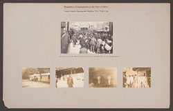 Races, Immigration: United States. New York. New York City. Immigrant Station: Regulation of Immigration at the Port of Entry. United States Immigrant Station, New York..   Social Museum Collection