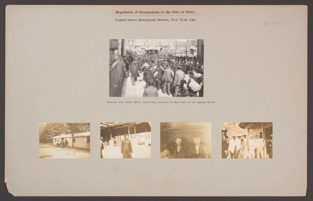 Races, Immigration: United States. New York. New York City. Immigrant Station: Regulation Of Immigration At The Port Of Entry. United States Immigrant Station, New York.
