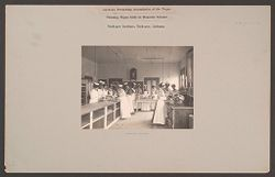 Races, Negroes: United States. Alabama. Tuskegee. Tuskegee Institute: Agencies Promoting Assimilation of the Negro. Training Negro Girls in Domestic Science. Tuskegee Institute, Tuskegee, Alabama: Cooking Division..   Social Museum Collection
