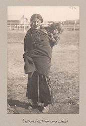 Races, Negroes: United States. Virginia. Hampton. Hampton Normal and Industrial School: Hampton Normal and Agricultural Institute, Hampton, Va.: Indian mother and child..   Social Museum Collection