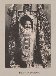 Races, Negroes: United States. Virginia. Hampton. Hampton Normal and Industrial School: Hampton Normal and Agricultural Institute, Hampton, Va.: Baby in cradle..   Social Museum Collection