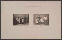 Races, Negroes: United States. Virginia. Hampton. Hampton Normal and Industrial School: Hampton Normal and Agricultural Institute, Hampton, Va.: Hampton exstudents and their children..   Social Museum Collection