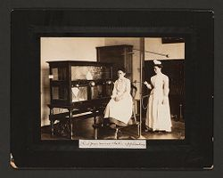 Defectives, Epileptics: United States. Massachusetts. Palmer. State Hospital for Epileptics: Third year nurse static applications..   Social Museum Collection