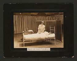 Defectives, Epileptics: United States. Massachusetts. Palmer. State Hospital for Epileptics: Graduate nurse hypodermic..   Social Museum Collection