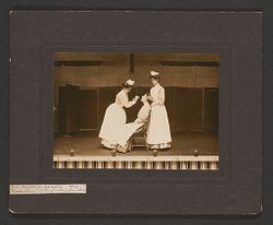 Defectives, Epileptics: United States. Massachusetts. Palmer. State Hospital for Epileptics: Mass. Hospital for Epileptics. 1907. Graduation - Taking culture from throat..   Social Museum Collection