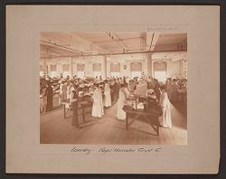 Industrial Problems, Welfare Work: United States. Massachusetts. Worcester. Royal Worcester Corset Company: Laundry - Royal Worcester Corset 6..   Social Museum Collection