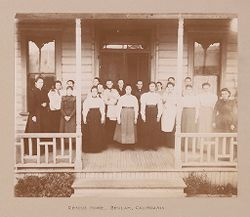 Religious Agencies, Salvation Army: United States. California. Beulah. Rescue Home: The Salvation Army: Rescue Home, Beulah, California..   Social Museum Collection