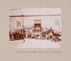 Religious Agencies, Salvation Army: United States. Colorado. Fort Amity. Consumptives' Farm Colony: The Salvation Army: Colonists' Children, Fort Amity, Colorado..   Social Museum Collection