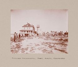 Religious Agencies, Salvation Army: United States. Colorado. Fort Amity. Consumptives' Farm Colony: The Salvation Army: Future Colonists, Fort Amity, Colorado..   Social Museum Collection