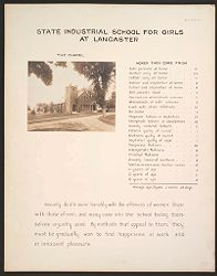 Crime, Children, Reform Schools: United States. Massachusetts. Lancaster. State Industrial School for Girls: State Industrial School for Girls at Lancaster: The Chapel. Homes They Come From..   Social Museum Collection