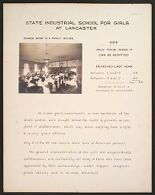 Crime, Children, Reform Schools: United States. Massachusetts. Lancaster. State Industrial School for Girls: State Industrial School for Girls at Lancaster: School Home in a Family  House. Age. Only Those Under 17 Can be Admitted.