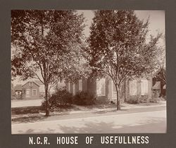Industrial Problems, Welfare Work: United States. Ohio. Dayton. National Cash Register Company: Welfare Institutions of the National Cash Register Company, Dayton, Ohio: Advantages for Employes' Children.: N.C.R. House of Usefulness.   Social Museum Collection