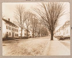 Housing, Improved: United States. Massachusetts: Housing Exhibit of Geo. B. Post & Sons: Cotton Mill Village, Whitinsville, Mass..   Social Museum Collection