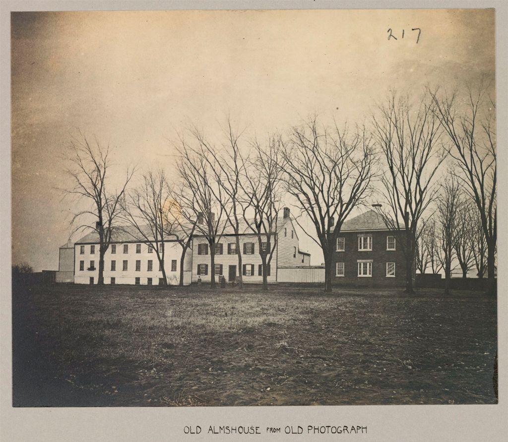 Charity, Public: United States. New York. Schenectady. Schenectady County Almshouse: Almshouses Of Schenectady County, N.y.: Old Almshouse From Old Photograph