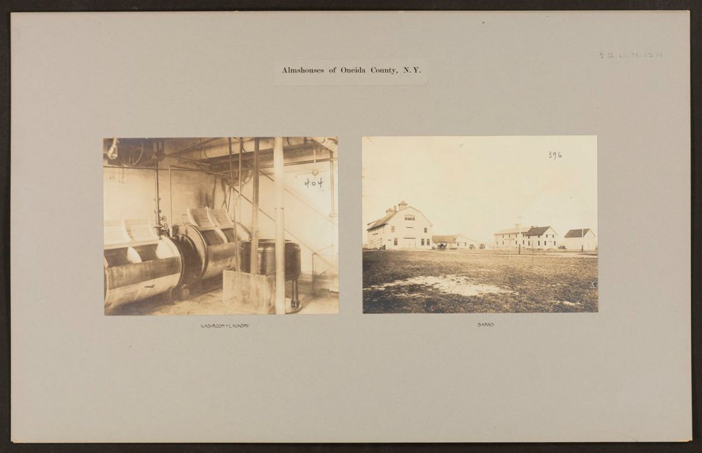 Charity, Public: United States. New York. Rome. Oneida County Almshouse: Almshouses Of Oneida County, N.y.