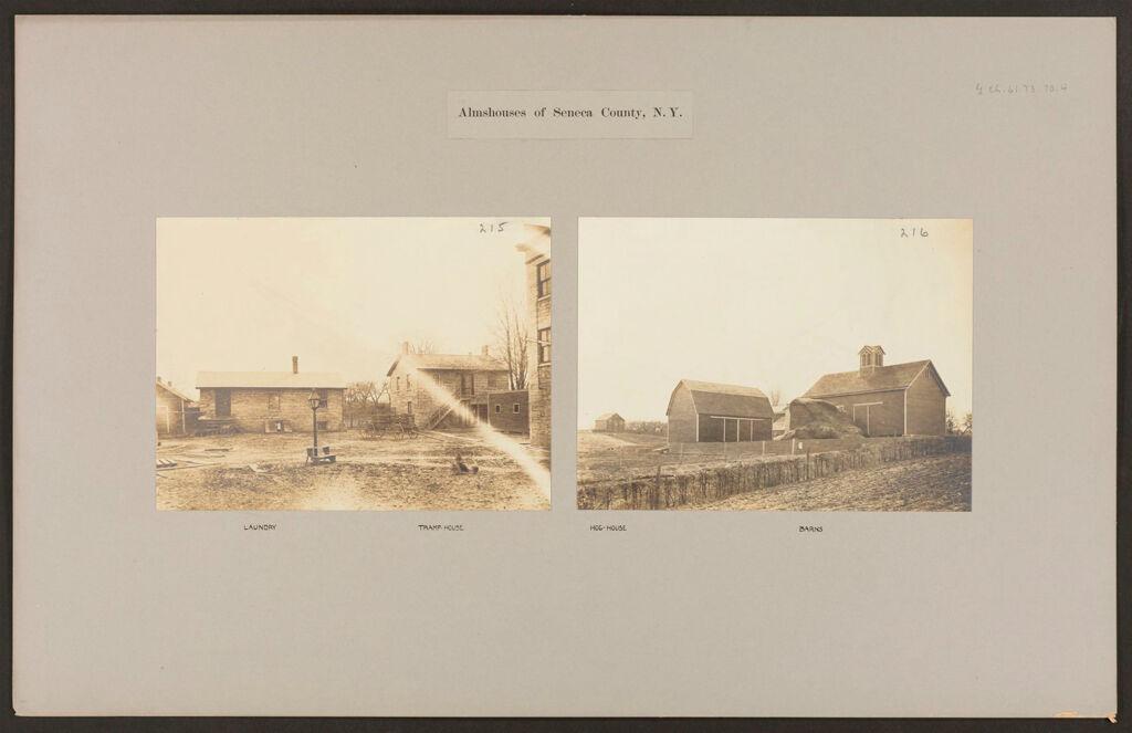 Charity, Public: United States. New York. Seneca Falls. Seneca County Almshouse: Almshouses Of Seneca County, N.y.