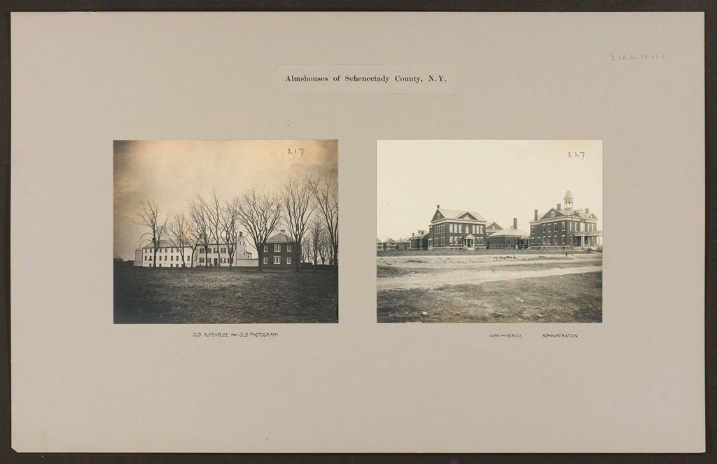 Charity, Public: United States. New York. Schenectady. Schenectady County Almshouse: Almshouses Of Schenectady County, N.y.