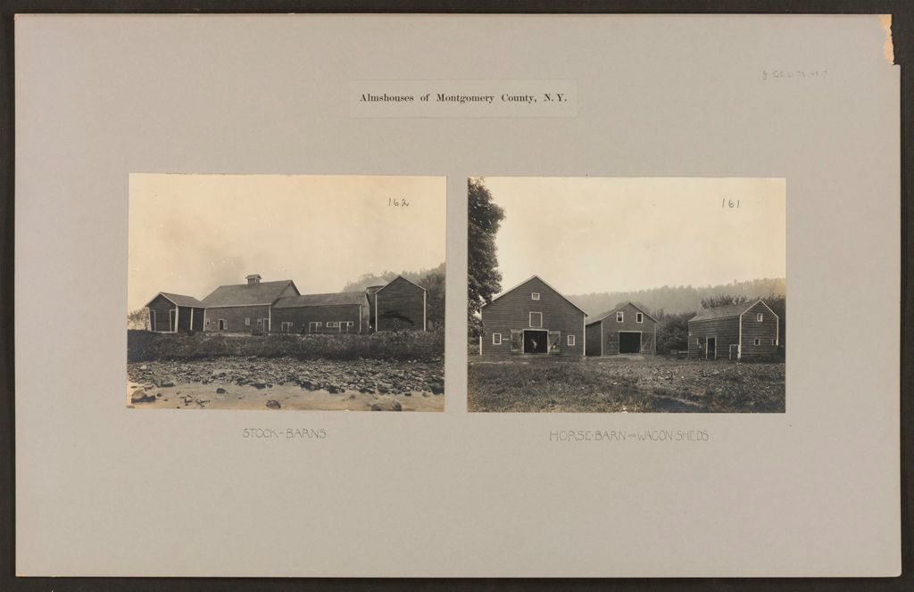 Charity, Public: United States. New York. Sprakers. Montgomery County Almshouse: Almshouses Of Montgomery County, N.y.