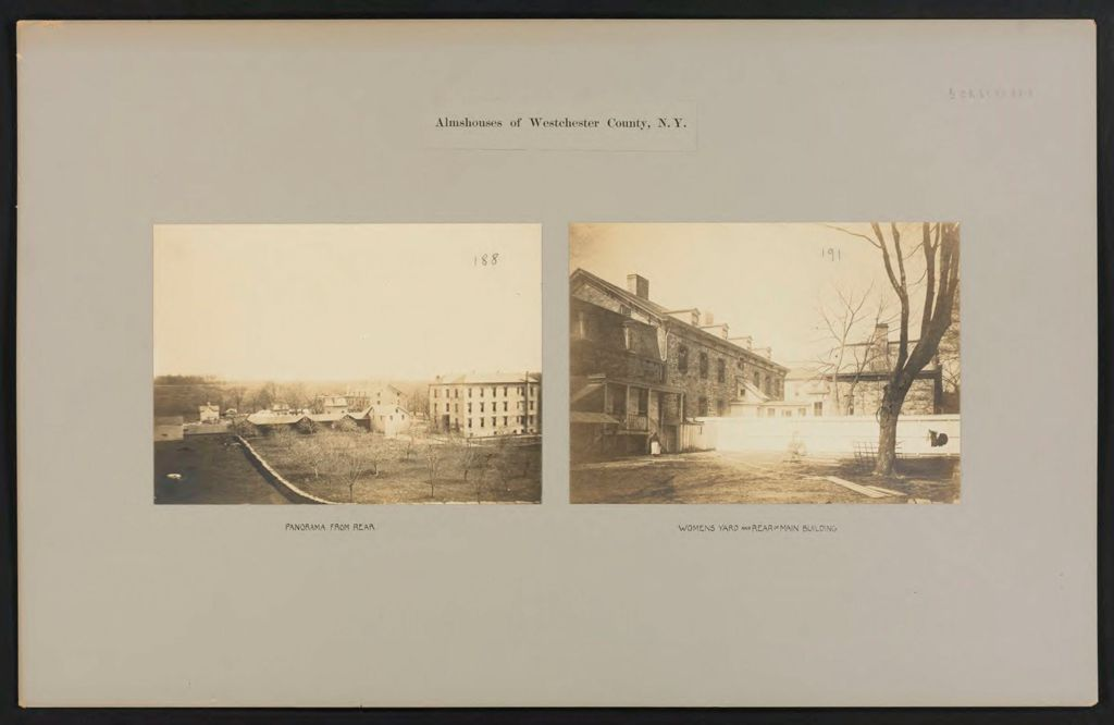 Charity, Public: United States. New York. East View. Westchester County Almshouse: Almshouses Of Westchester County, N.y.