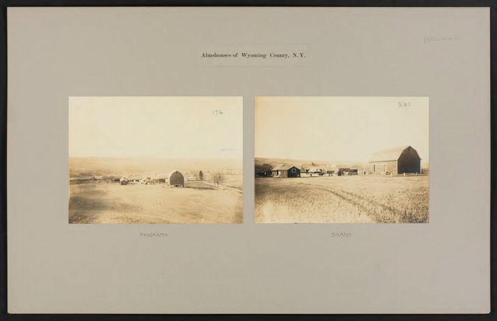 Charity, Public: United States. New York. Varysburg. Wyoming County Almshouse: Almshouses Of Wyoming County, N.y.