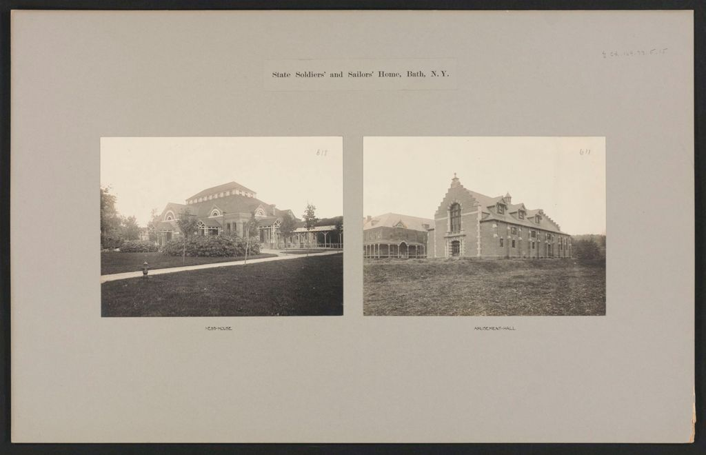 Charity, Soldiers And Sailors: United States. New York. Bath. State Soldiers' And Sailors' Home: State Soldiers' And Sailors' Home, Bath, N.y.