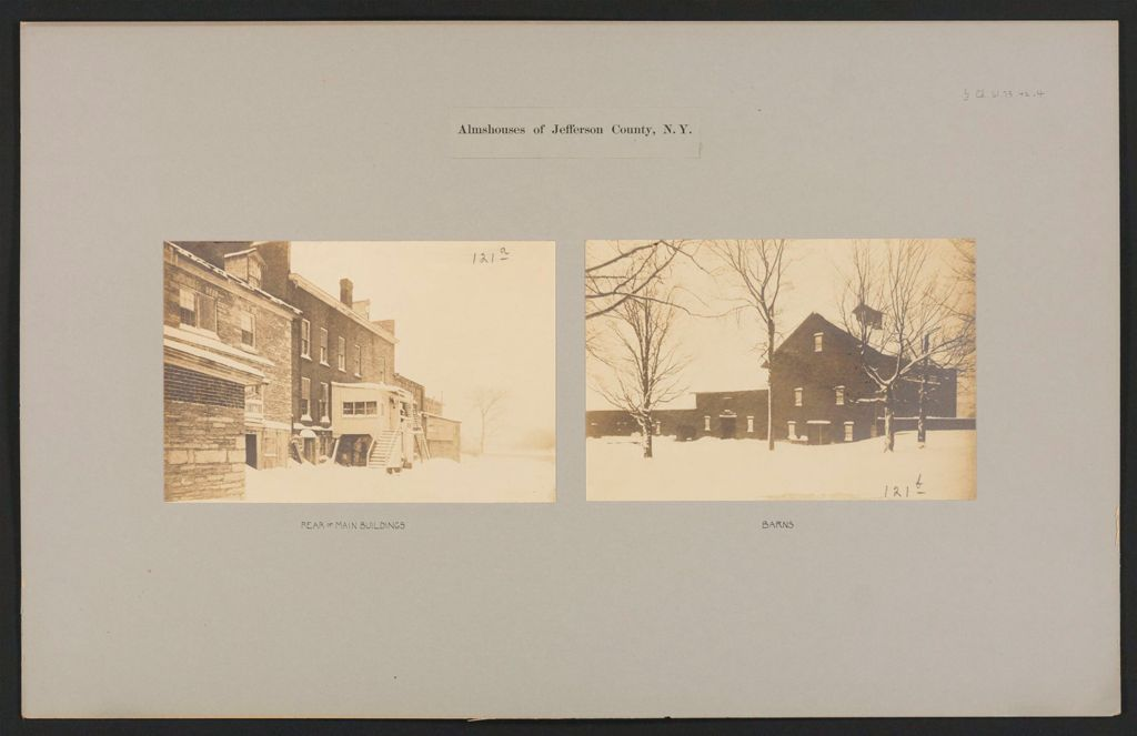 Charity, Public: United States. New York. Watertown. Jefferson County Almshouse: Almshouses Of Jefferson County, N.y.