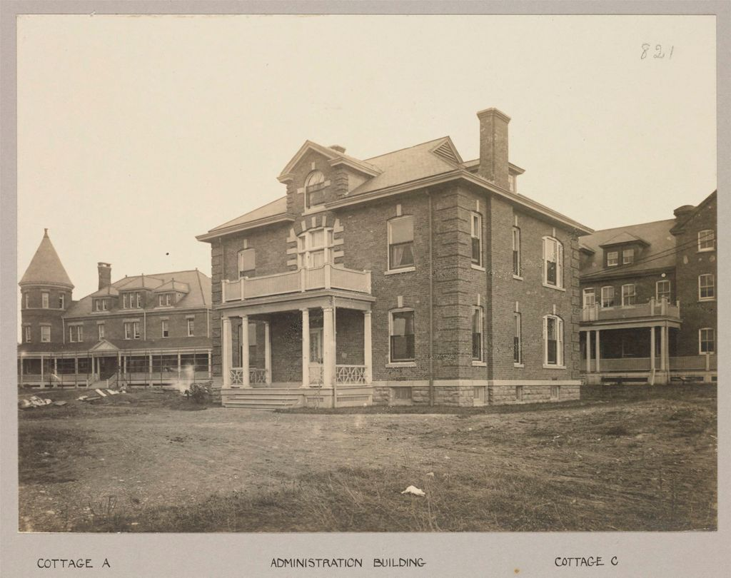 Charity, Soldiers And Sailors: United States. New York. Oxford. Women's Relief Corps: State Women's Relief Corps House, Oxford, N.y.: Cottage A; Administration Building; Cottage C