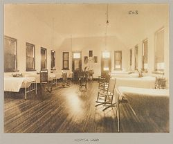Crime, Women: United States. New York. Bedford. State Reformatory for Women: State Reformatory for Women, Bedford, N.Y.: Hospital Ward.   Social Museum Collection