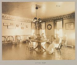 Crime, Women: United States. New York. Bedford. State Reformatory for Women: State Reformatory for Women, Bedford, N.Y.: Sitting - Room.   Social Museum Collection