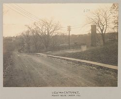 Crime, Women: United States. New York. Hudson. House of Refuge for Women: State House of Refuge for Women, Hudson, N.Y.: View from Entrance: Power-house under hill.   Social Museum Collection