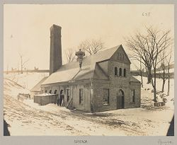 Crime, Women: United States. New York. Hudson. House of Refuge for Women: State House of Refuge for Women, Hudson, N.Y.: Power-House: Exterior.   Social Museum Collection